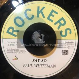 "Rockers-7""-Say So / Paul Whiteman"