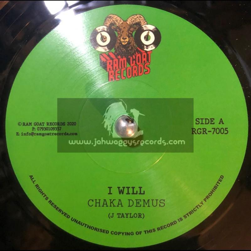 """Ram Goat Records-7""""-I Will / Chaka Demus"""