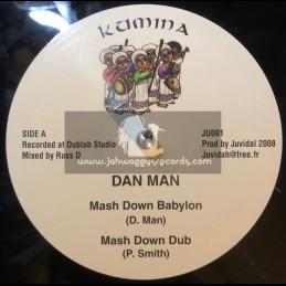 "KUMINA-12""-MASH DOWN BABYLON / DAN MAN + PLAY ON / JONAH DAN"