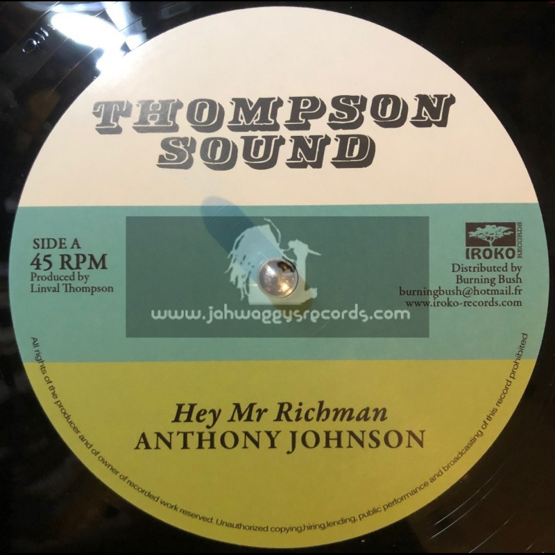 """Thompson Sounds-12""""-Hey Mr Richman / Anthony Johnson + Dont You Try / Bunnie Lie Lie"""