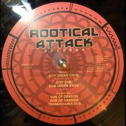 "Rootical Attack Records-12""-City Under Siege / Kazam Davis + Son Of Dragon / Starf"