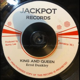 """Jackpot Records-7""""-King And Queen / Errol Dunkey + Dont Belive In Him / Winston Samuels"""