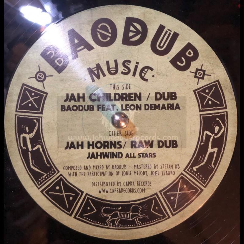 """Baodub Music-12""""-Jah Children / Baodub Ft. Leon Demaria + Jah Horns / Jahwind All Stars"""