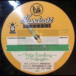 "Handcart Records-12""-Ital / Muma Carol ft Dubjuggler + Serious / Pato Ranking ft Dubjuggler"