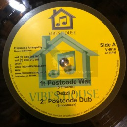 "Vibes House-10""-Postcode War / Dezzi D + The Half Thats Never Been Told / Robert Emanuel"