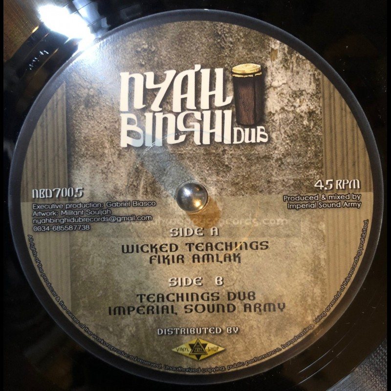 "Nyah Binghi Dub-7""-Wicked Teachings / Fikir Amlak + Teachings Dub / Imperial Sound Army"
