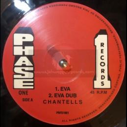 """Phase One Records-10""""-Eva / Chantells + Rub Me Down / Chantells"""