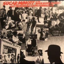 Black Roots-Lp-Sugar Minott & The Black Roots Players Meet The People In A Lovers Dubbers Style