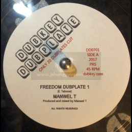 """Dubkey Dubplate-7""""-Freedom Dubplate / Manwell T"""
