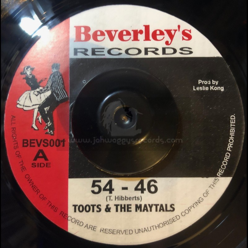 """Beverleys Records-7""""-54 - 46 + Pressure Drop / Toots & The Maytals"""
