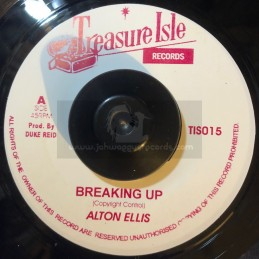 "Treasure Isle-7""-Breaking Up / Alton Ellis + Wall Street Shuffle / Duke Reid"