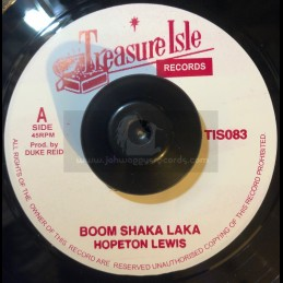 "Treasure Isle-7""-Boom Shaka Laka / Hopeton Lewis + Testify / Hopeton Lewis"
