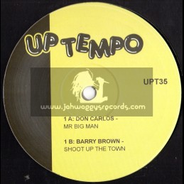 """UP TEMPO 10""""-DON CARLOS/BARRY BROWN/WILLIE WILLIAMS"""