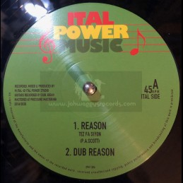 "Ital Power Music-12""-Reason / Tes Fa Siyon + Sadhu Tribe / M.Ital"