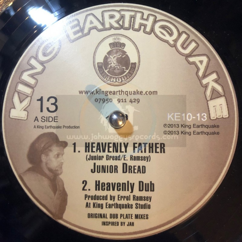 """King Earthquake-10""""-Heavenly Father + Praise The Father / Junior Dread"""