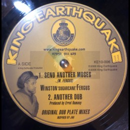 "KING EARTHQUAKE-10""-SEND ANOTHER MOSES + NAH RUN / WINSTON SUGERCANE FERGUS"