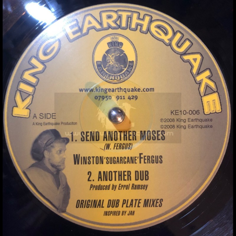 """KING EARTHQUAKE-10""""-SEND ANOTHER MOSES + NAH RUN / WINSTON SUGERCANE FERGUS"""
