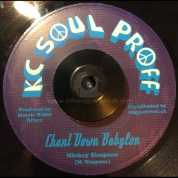 """KC Soul Prof-7""""-Chant Down Babylon / Mickey Simpson"""