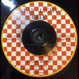 """Star Light City-7""""-Final Blow / Africans + Final Blow Pt 2 / Willie Lindo"""