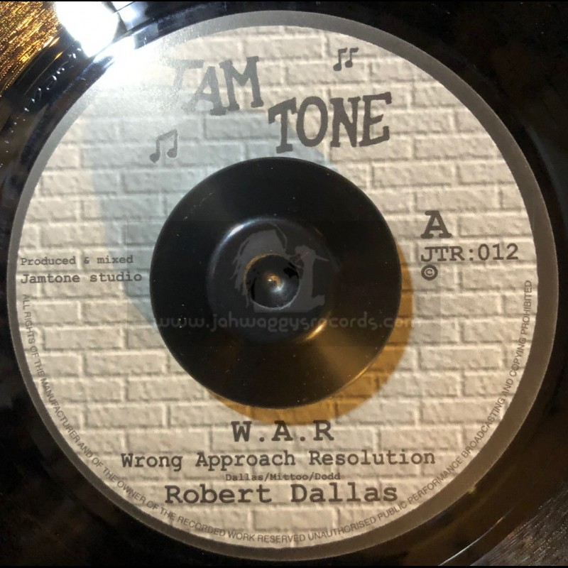 """Jam Tone Records-7""""-W.A.R - Wrong Approach Resolution / Robert Dallas"""