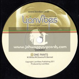 """Lion Vibes-7""""-One Pants / Doniki"""