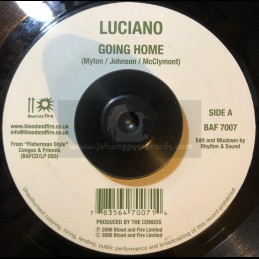 """Blood & Fire-7""""-Gong Home / Luciano + Fisherman Style / U Roy"""