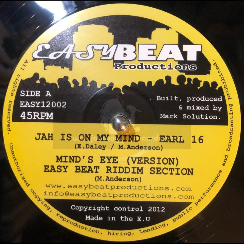 """Easy Beat Productions-12""""-Jah Is On My Mind / Earl 16"""