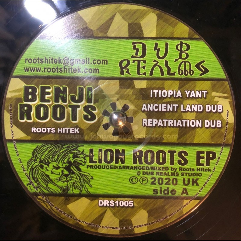 """Dub Realms-12""""-Lion Roots Ep - Itiopia Yant / Benji Roots + Wha'ppen / Benji Roots"""