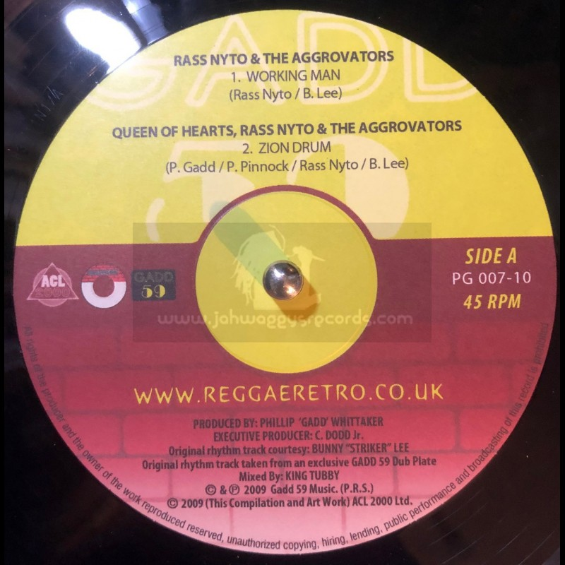 "Reggae Retro-10""-Working Man/Ras Nyto & The Aggrovators+Ghana/Ras Nyto & The Hi Tech Roots Dynamics"