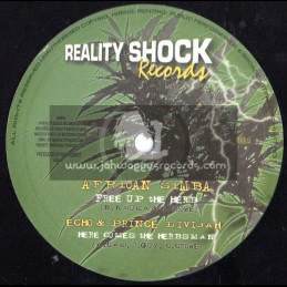 "Reality Shock Records-10""-Free Up The Herbs / African Simba-Prince Livijah-Echo & Marga"