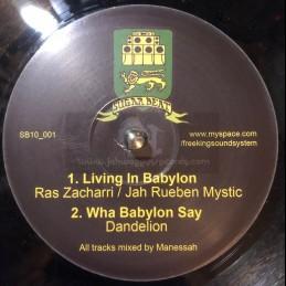 """Sugar Beat-10""""-Living In Babylon / Ras Zacharri & Jah Reuben Mystic"""