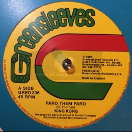 "GREENSLEEVES-12""-PARO THEM PARO / KING KONG"