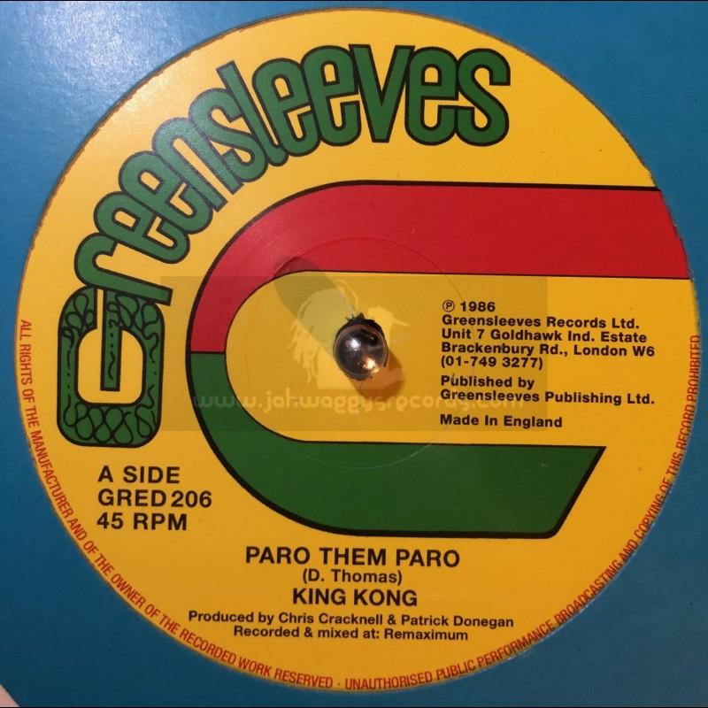 """GREENSLEEVES-12""""-PARO THEM PARO / KING KONG"""