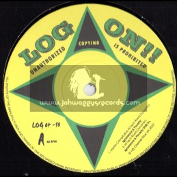 """Log On-10""""-Ignorace & Poverty / Martin Cambell + Famine / Hi Tech Roots Dynamics(LIMITED EDITION)"""