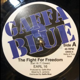 """Gaffa Blue-7""""-The fight For Freedom / Earl Sixteen + Ghetto Youth / Chukki Star"""