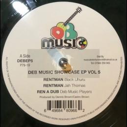 "D.E.B. Music-12""-DEB Music Showcase Ep Vol 5-Rentman / Black Uhuru + Wood For My Fire / Black Uhuru"