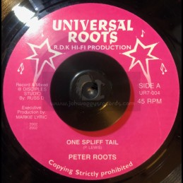 """Universal Roots-7""""-One Spliff Tail / Peter Roots"""