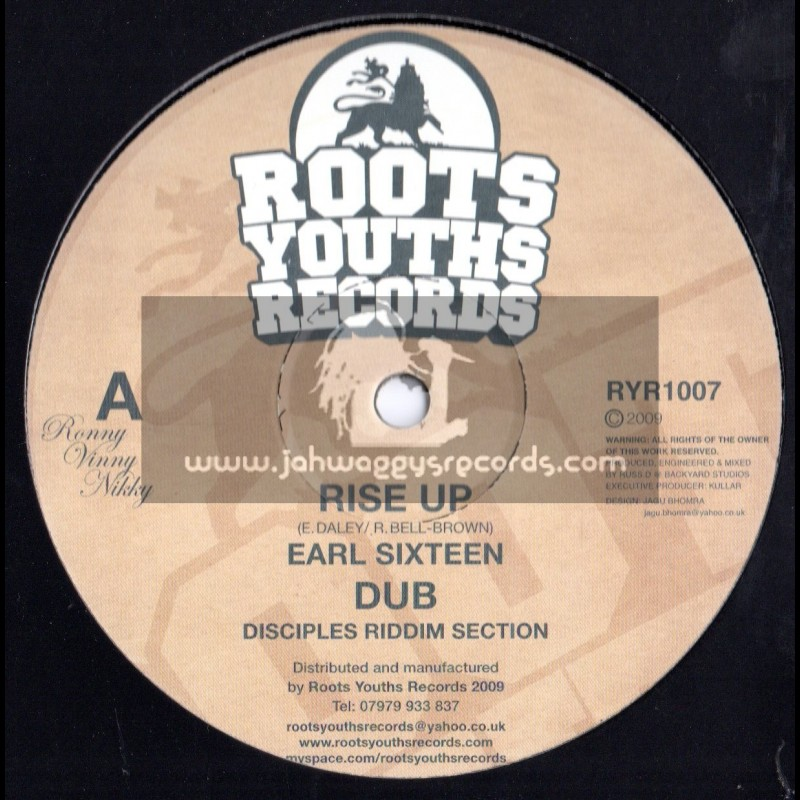 """Roots Youths Records-12""""-Rise Up / Earl Sixteen"""