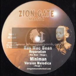 """Zion Gate Music-12""""-Reparation / Ras Mcbean"""
