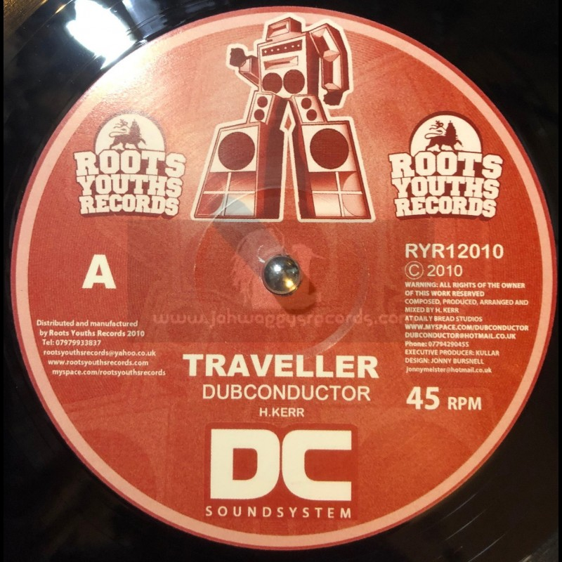 """ROOTS YOUTHS RECORDS-12""""-TRAVELLER + FLYING DUB / DUBCONDUCTOR"""