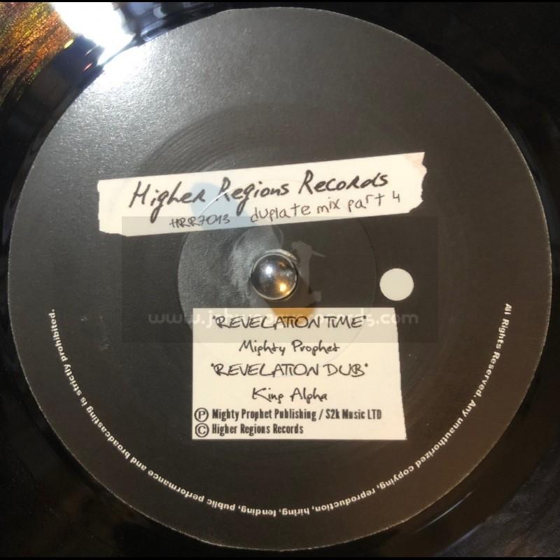 "Higher Regions Records-7""-Relelation Time / Mighty Prophet + Revelation Dub / King Alpha"