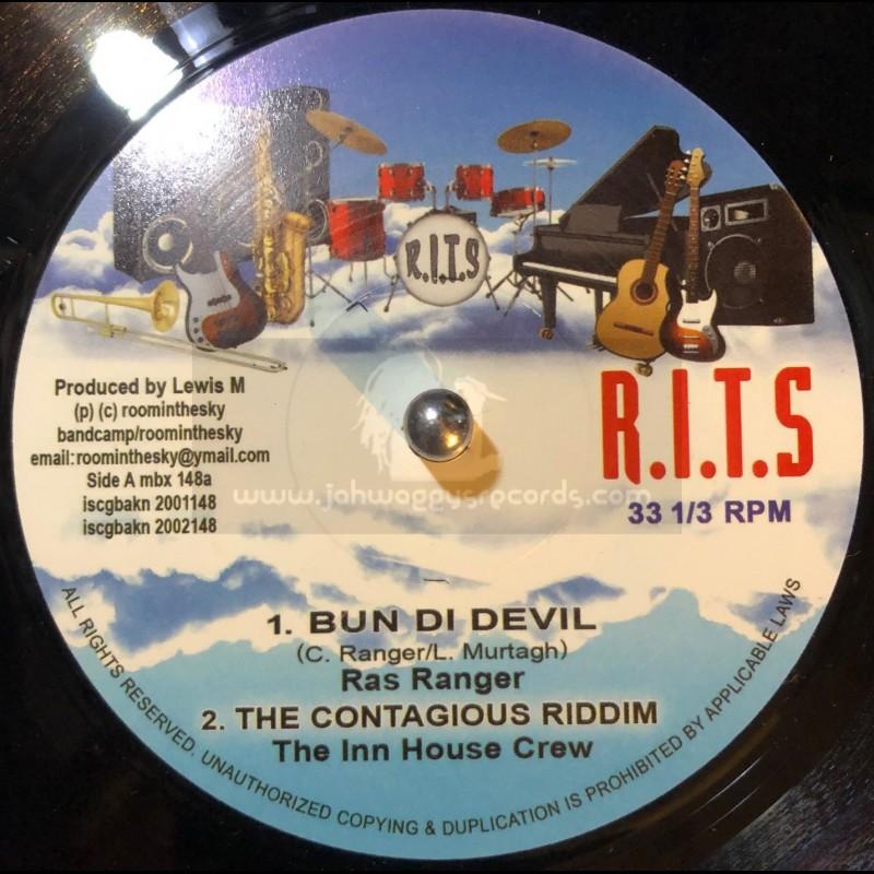 "R.I.T.S-7""-Bun Di Devil / Ras Ranger + Solomon / A J Franklin + Hip Hip Hooray / Winston Reedy"