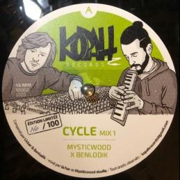"""Kopah Records-10""""-Cycle / Mysticwood & Benlodik - 100 Copy Poly Vinyl Dubplate"""