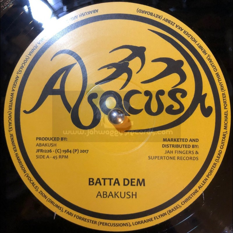 "Abacush-Jah Fingers-12""-Batta Dem / Abakush + Rock Attack / Abakush"