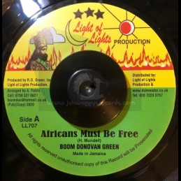"""Light Of Lights-7""""-Africans Must Be Free / Boom Donovan"""