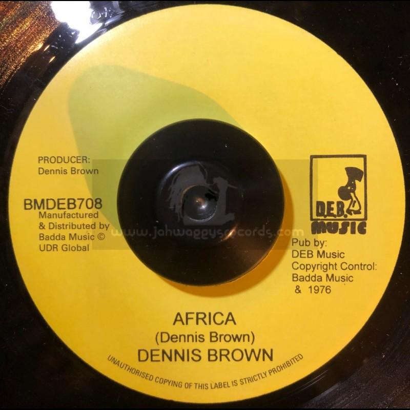 "D.E.B. Music-7""-Africa / Dennis Brown + Magic At Night / Junior Delgado"