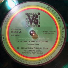 "Vibe Generator Records-7""-Love Is The Solution / BabbaJah + Solution Riddim Dub / Kingstep meets Crucial Alphonso"