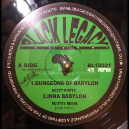 """Black Legacy Records-12""""-Dungeons Of Babylon / Keety Roots + Inna Babylon / Rootsy Rebel"""