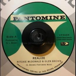 "Pantomine-7""-Realize / Ritchie McDonalld & Glen Brown + Determination Skank / Tommy McCook"