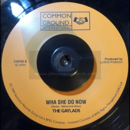 "Common Ground International-7""-You Had Your Chance / The Gaylads ‎+ Wha She Do Now / The Gaylads"